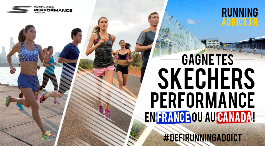 concours pour gagner chaussures running skechers performance