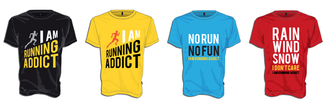 t-shirt running addict crowdfunding ulule