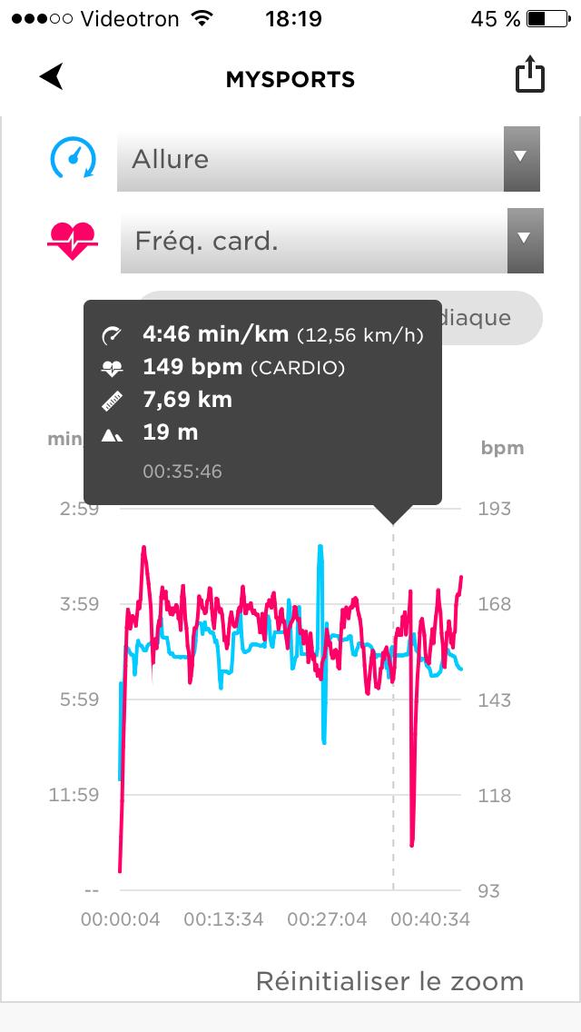 la montre tomtom runner 3 cardio music et son app