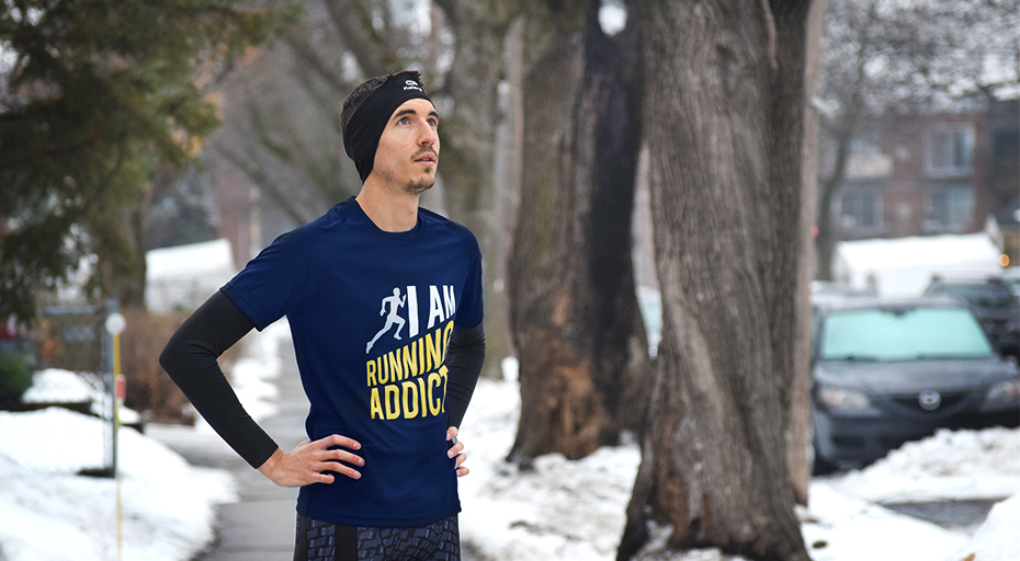 le retour d'un t-shirt running addict exclusif