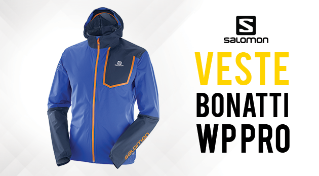 Veste Trail Salomon Bonatti Black Trinkflasche Outdoor
